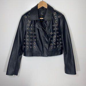 NWOT Forever 21 Large Faux Leather Jacket